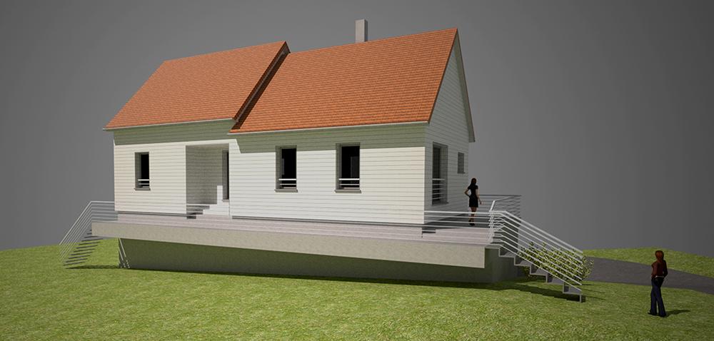 Auto-construction d'une maison bois individuelle – exemple #2