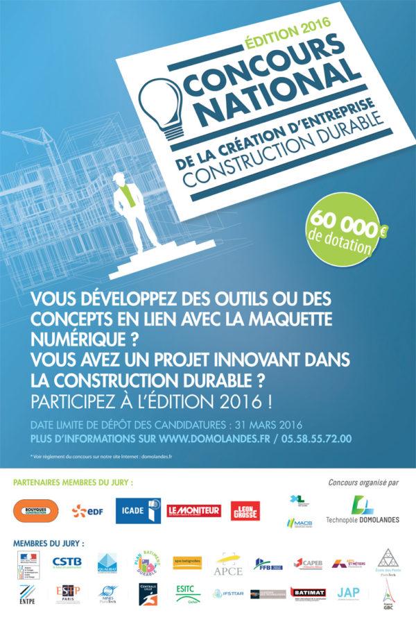 Concours national de la création d'entreprise construction durable