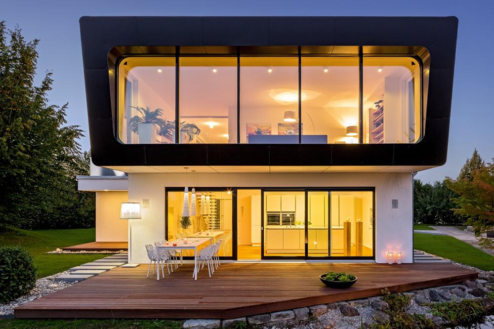 Maison passive pas cher une maison chaleureuse et for Maison contemporaine pas cher
