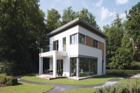 La maison passive vient agrandir la gamme citylife de weberhaus la maison bois par maisons - Maison passive design ...