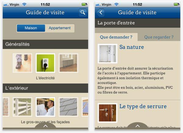 Qualitel guide les acheteurs de biens immobiliers sur Iphone