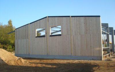 Mur en bois massif pour construction modulaire