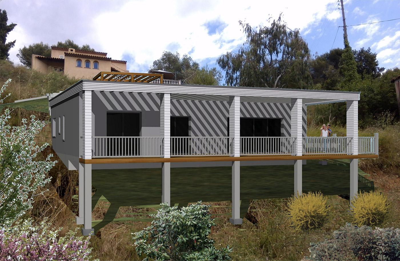 maison ossature bois sun 140 d 39 amb sarl premium la maison bois par maisons. Black Bedroom Furniture Sets. Home Design Ideas