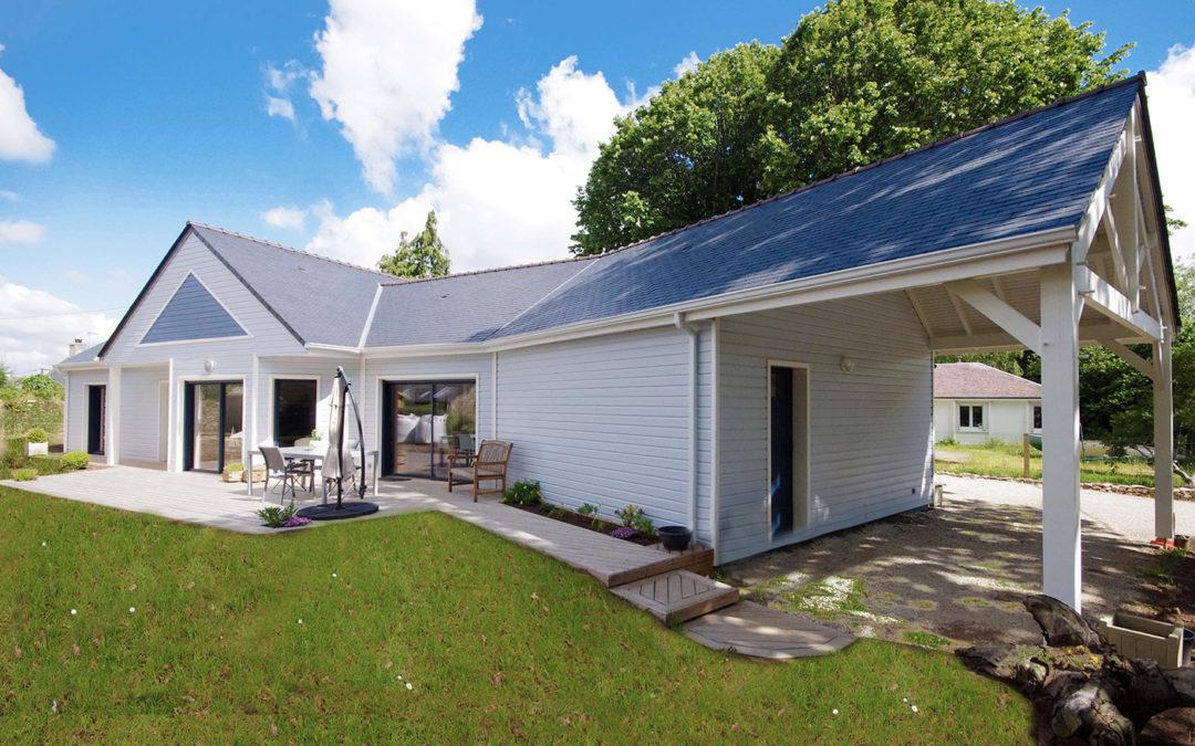 Vend e 85 la maison bois par maisons for Constructeur maison 85