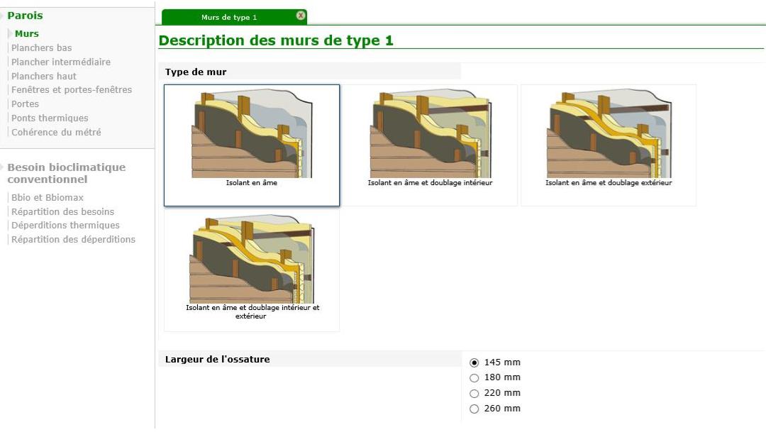 Logiciel pour la vérification simplifiée de la RT 2012 dans les maisons bois
