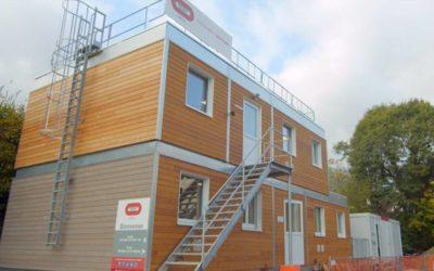 Bouygues Bâtiment Sud-Est choisit la construction bois… pour une base de vie