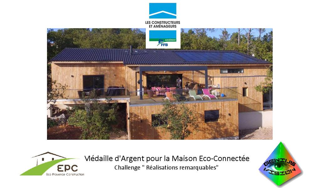 MÉDAILLE D'ARGENT 2016 REALISATIONS REMARQUABLES « TECHNIQUES CONSTRUCTIVES »