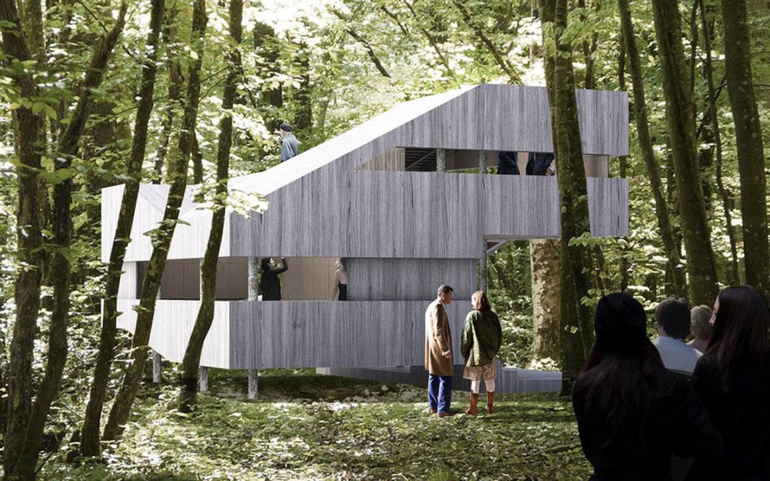 Maison 100 % bois au Festival de la Forêt et du Bois : le 'Château Ambulant'