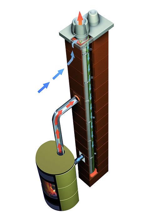 Erlus améliore l'étanchéité à l'air du conduit de fumée et le raccordement au foyer