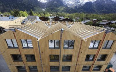 Bois et béton pour un hôtel alpin
