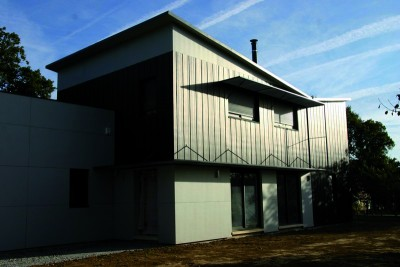 Maison en bois résolument contemporaine
