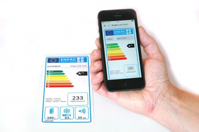 Une app vous assiste pour lire l'étiquette énergie des appareillages