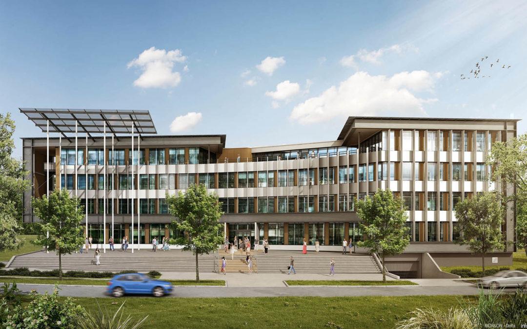 « Delta Green », bâtiment tertiaire passif mixte bois/béton à Saint-Herbain (44)