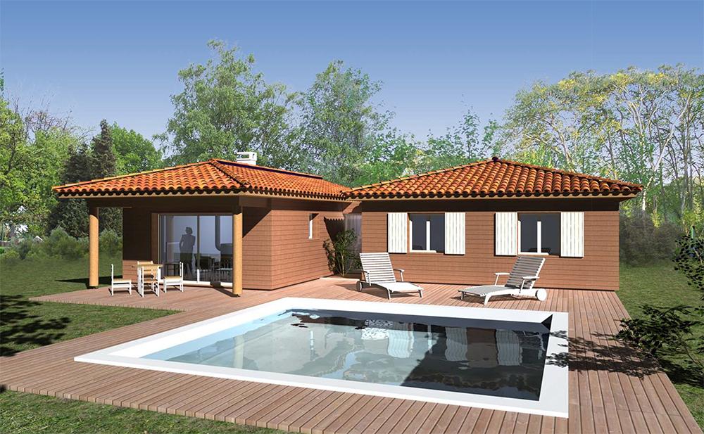 les maisons villas bois provence la maison bois par maisons. Black Bedroom Furniture Sets. Home Design Ideas