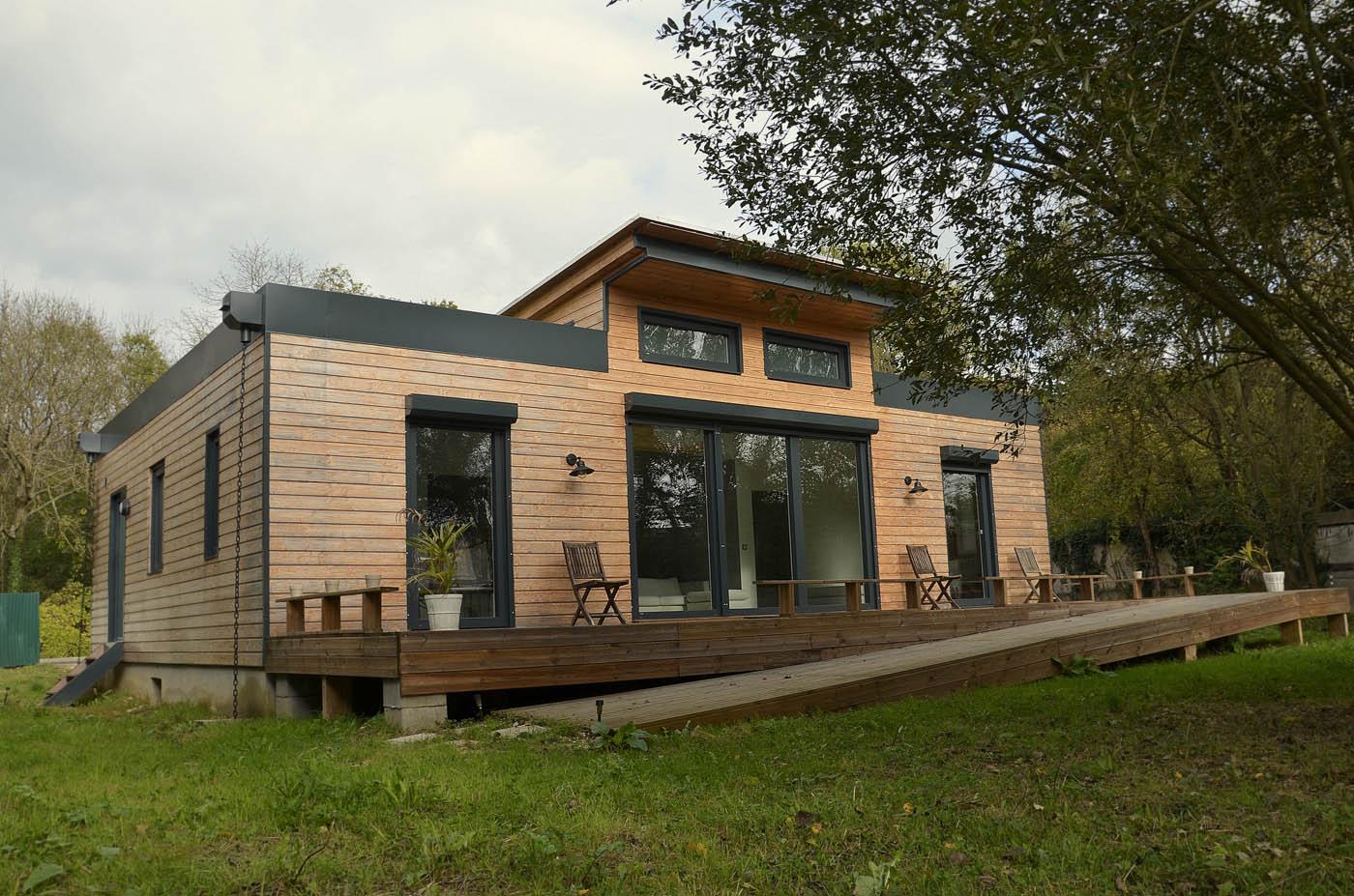 Maison En Bois Moselle maison bois à énergie positive vermont par ecoxia - la