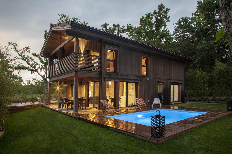 Maison en bois pas cher landes