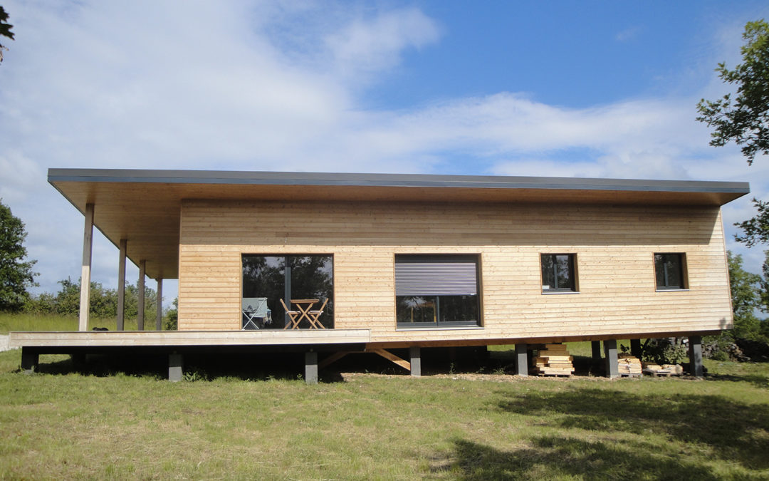 Maison contemporaine en ossature bois dans le Lot par Evobois