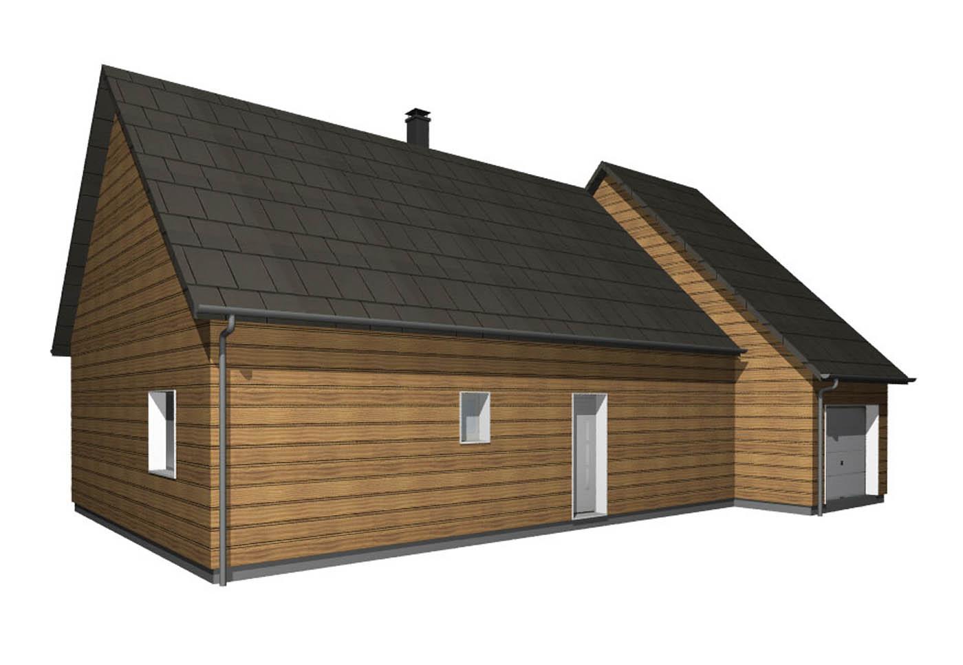 Maison en ossature bois noevea de gipim la maison bois for La maison bois