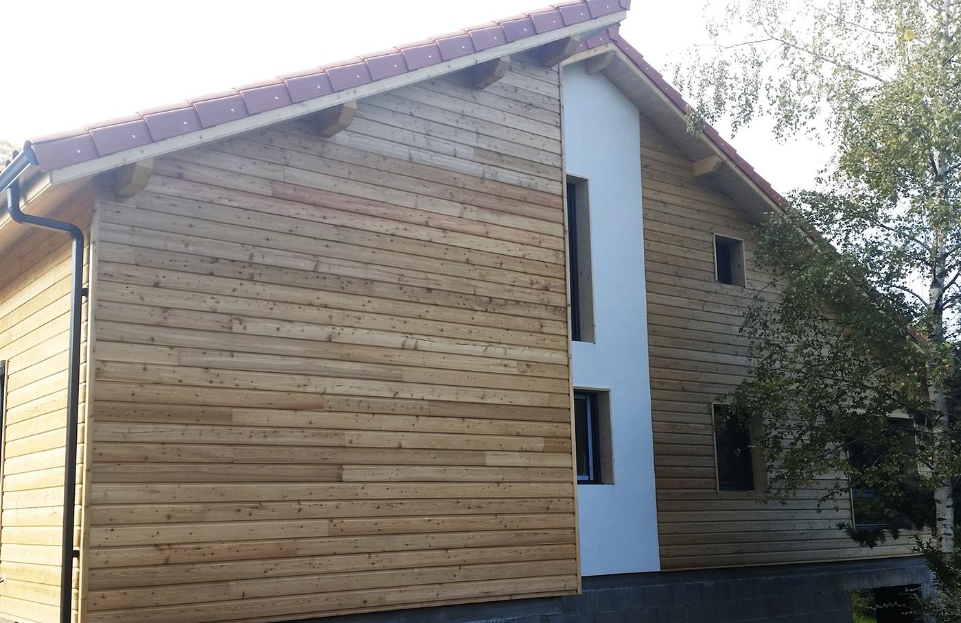 Bardage maison ossature bois maison ossature bois bardage for Bardage bois maison ancienne