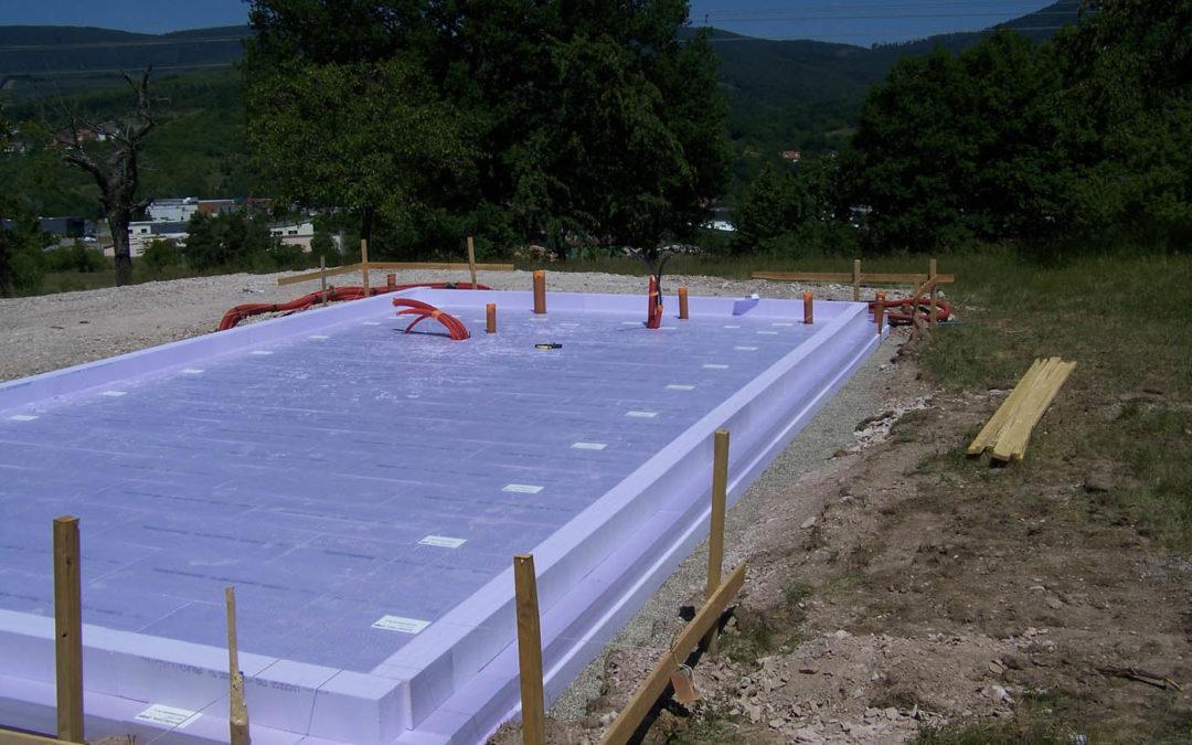 Dalle super isolée pour la première maison « Bâtiment Passif Plus » en France