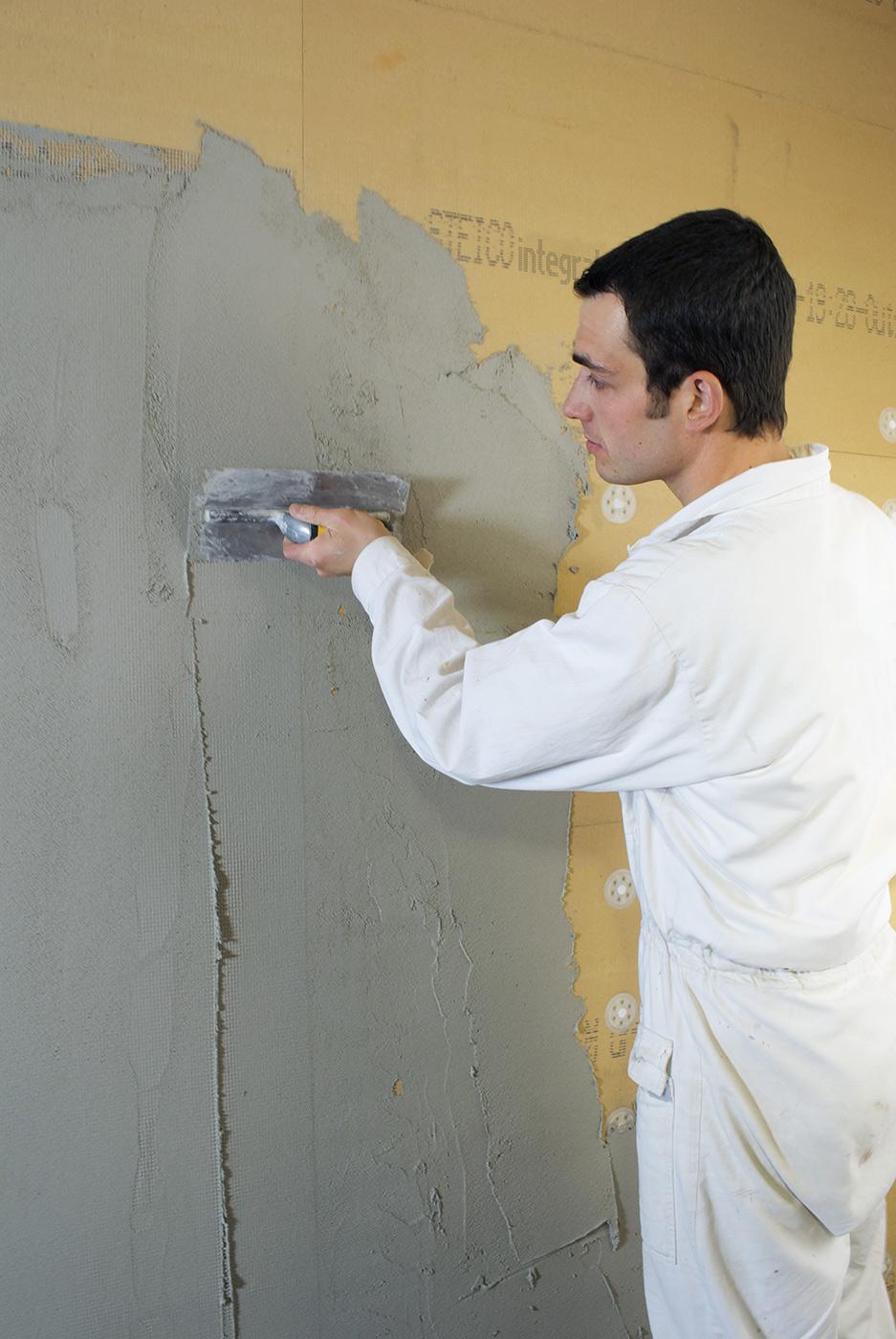 Mise en oeuvre mur STEICOintegral plaque isolant fibres de bois