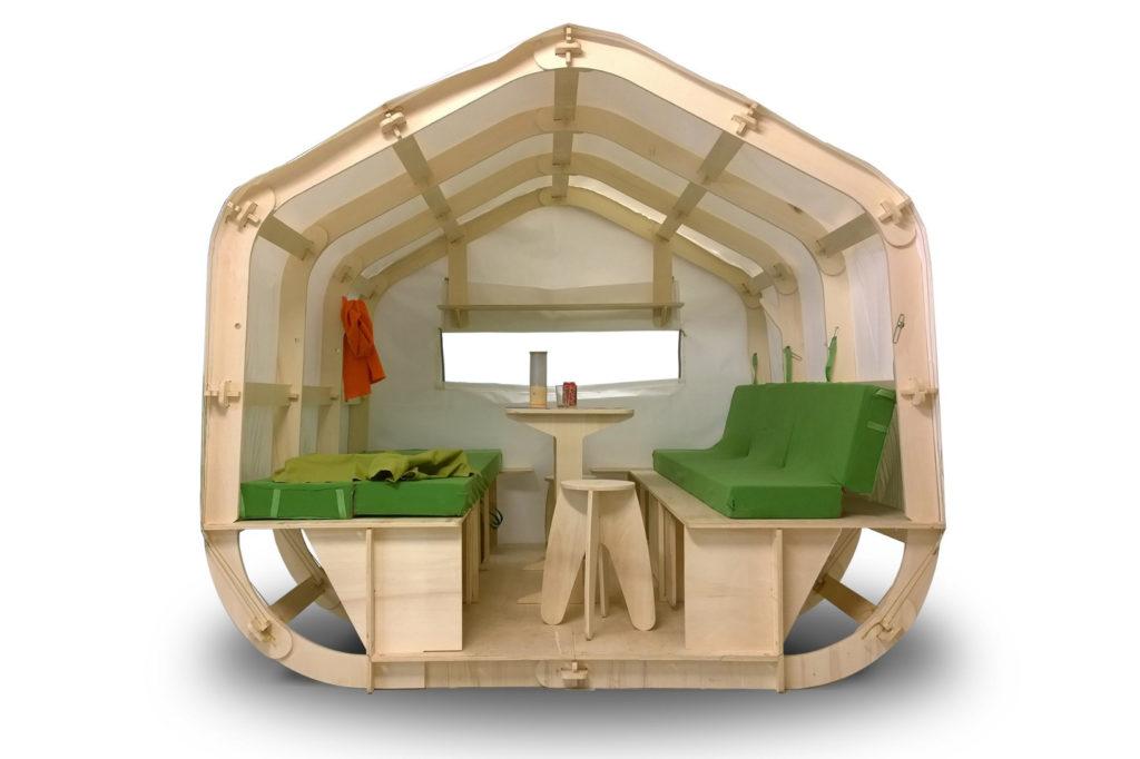 Houzzle une maison bois et toile ultra l g re monter ou for Monter sa maison en bois