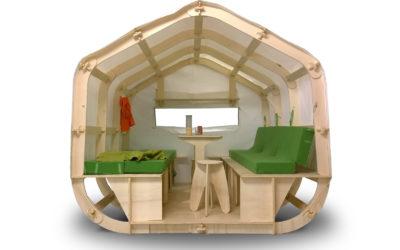 Houzzle, une maison bois et toile ultra légère à monter ou à fabriquer soi-même