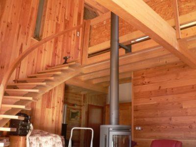 Maison d 39 habitation ossature bois sur terrain en pente for Extension maison osb