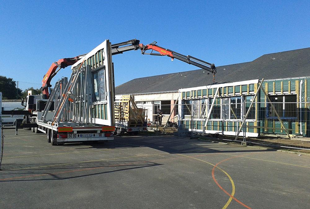 Ossature bois pour la rénovation énergétique d'un collège