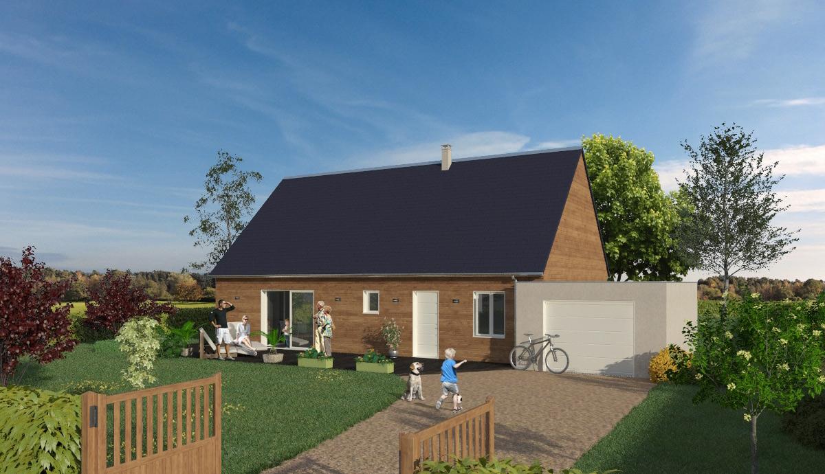 Maison Ossature Bois Vosges maison à ossature bois économique rt2012 poulingue - la