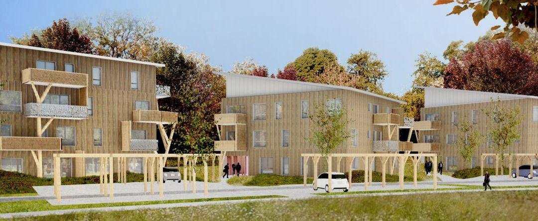 Hélios : 3 bâtiments à ossature bois E+C- de l'OPH Angers Loire Habitat