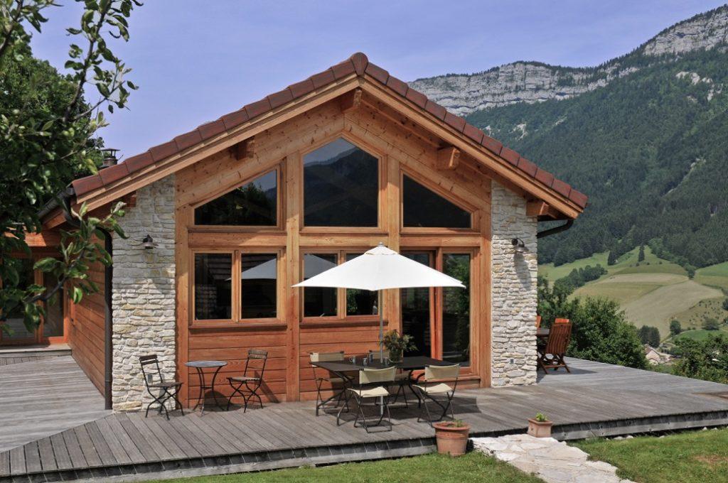 Maison ossature bois int gr e au paysage du vercors la maison bois par ma - Chauffage maison ossature bois ...