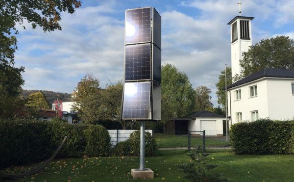 Sharp Solaire pallie au manque de place sur le toit avec ce mât solaire photovoltaïque