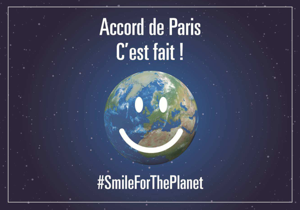 #SmileForThePlanet : l'accord de Paris sur le climat entre en vigueur