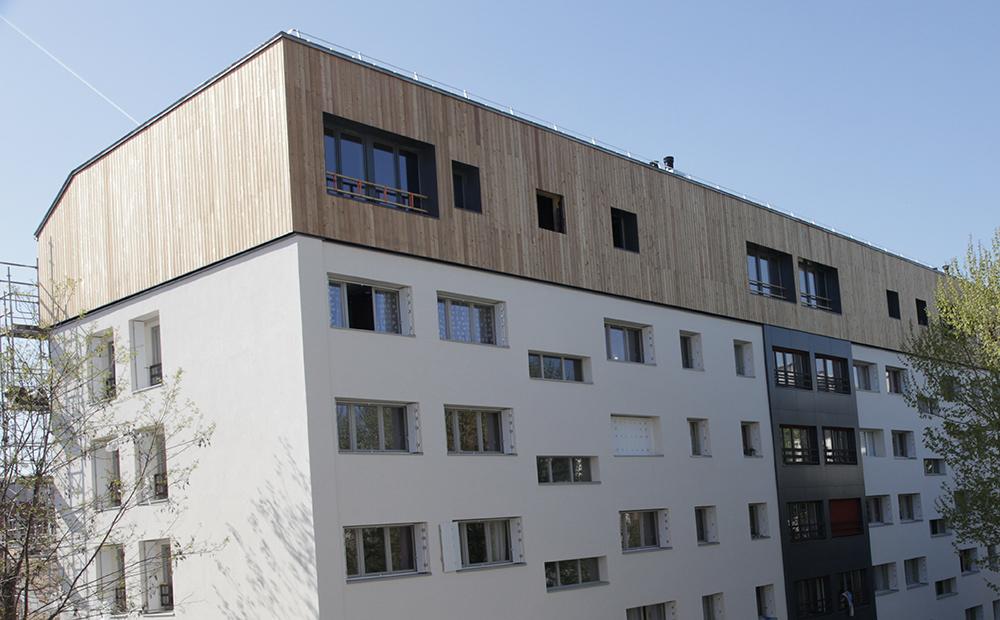 Surélévation bois finie - Photo : METSÄ WOOD