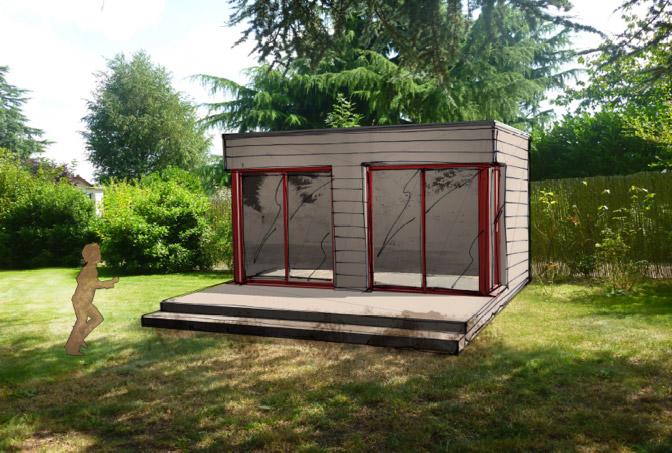2 studios bois ind pendants poser dans son jardin la for Bureau de jardin prix