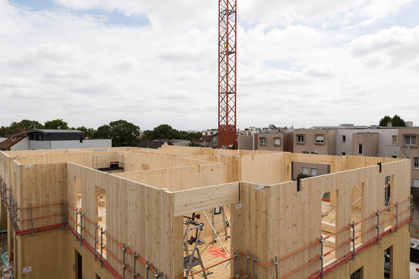 R sidence epicea 23 logements en bois massif clt dans les hauts de seine la maison bois - La maison bois massif ...