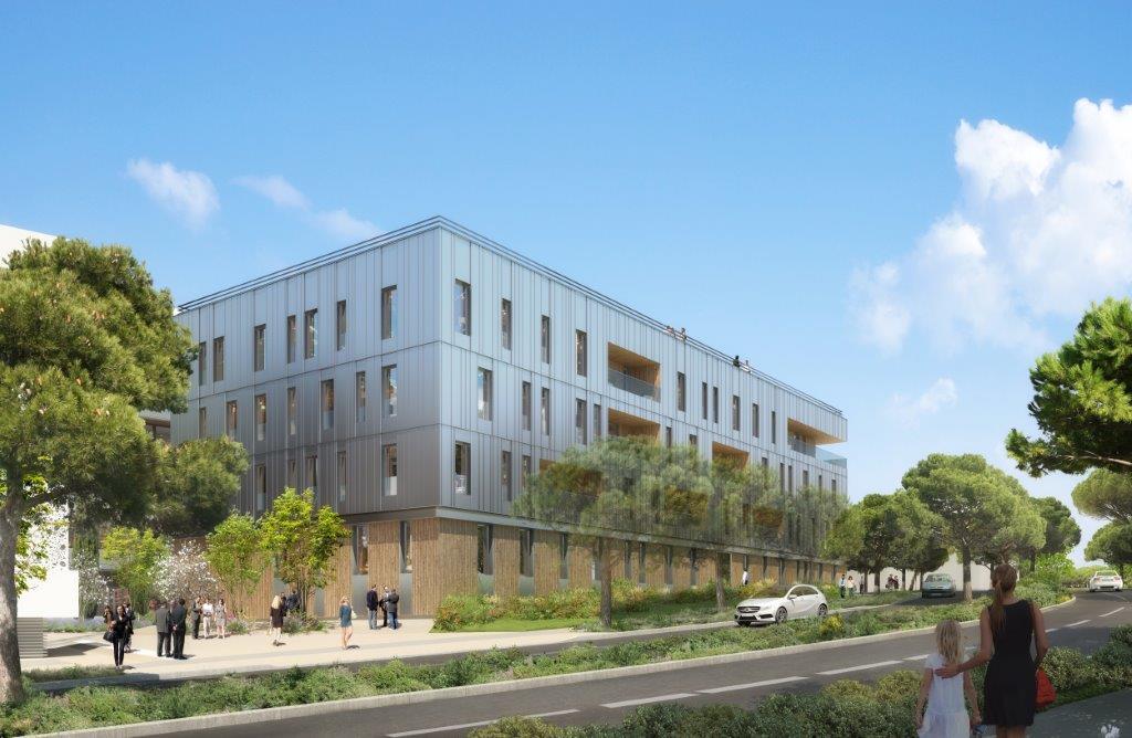 L'immeuble de bureaux en bois Ywood Odysseum à Montpellier a reçu la Pyramide du bâtiment bas-carbone