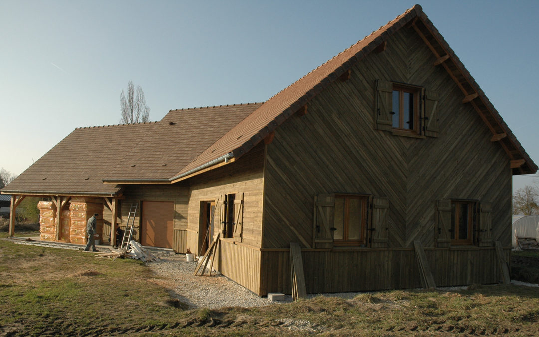 Fabulous mobhome maison bois biosource par la fort duothe for Construction chalet vosges tarif