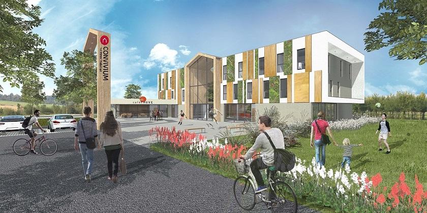 Convivium : un bâtiment bois à énergie positive, lieu de vie positif par Innov'Habitat