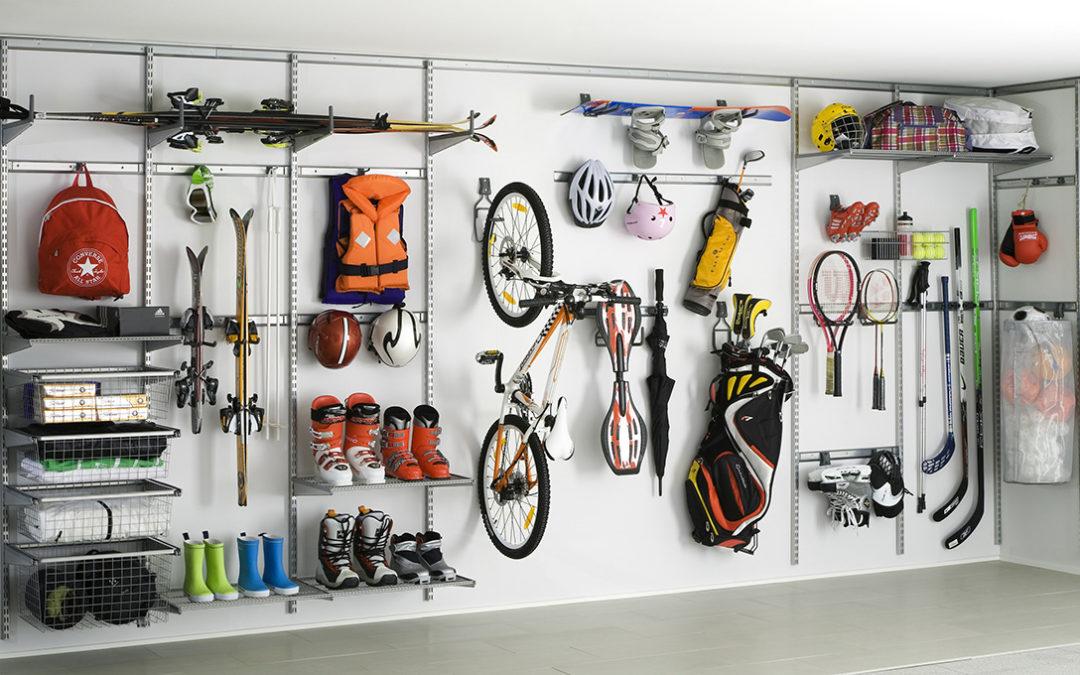 Un dressing pour les sportifs dans le garage