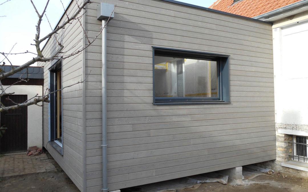 Extension à ossature bois de 30 m2 par Boisphère