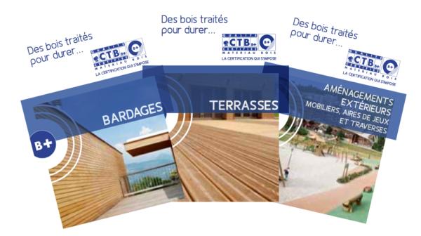 3 fiches sur l'utilisation des bois traités en bardages, terrasses & aménagements extérieurs