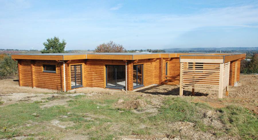 ganeeva en mayenne maisons en bois massif en bretagne et pays de la loire la maison bois par. Black Bedroom Furniture Sets. Home Design Ideas