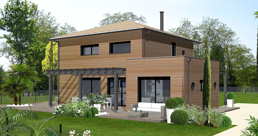 A la une 4 7 la maison bois par maisons for Architecture en bois