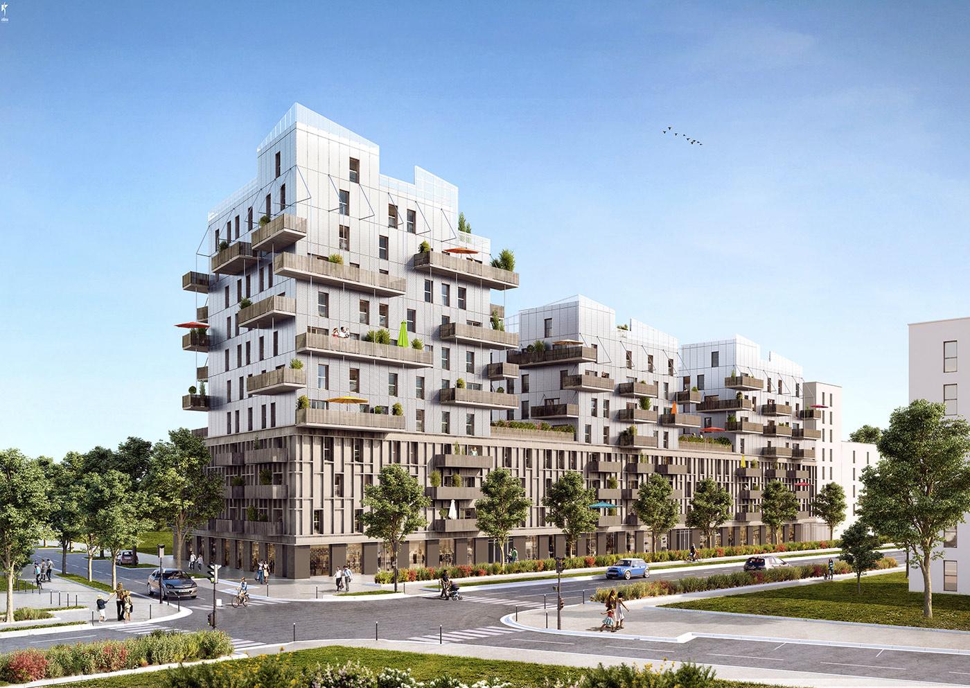 Sensations strasbourg premier immeuble de grande for Immeuble bureaux structure bois