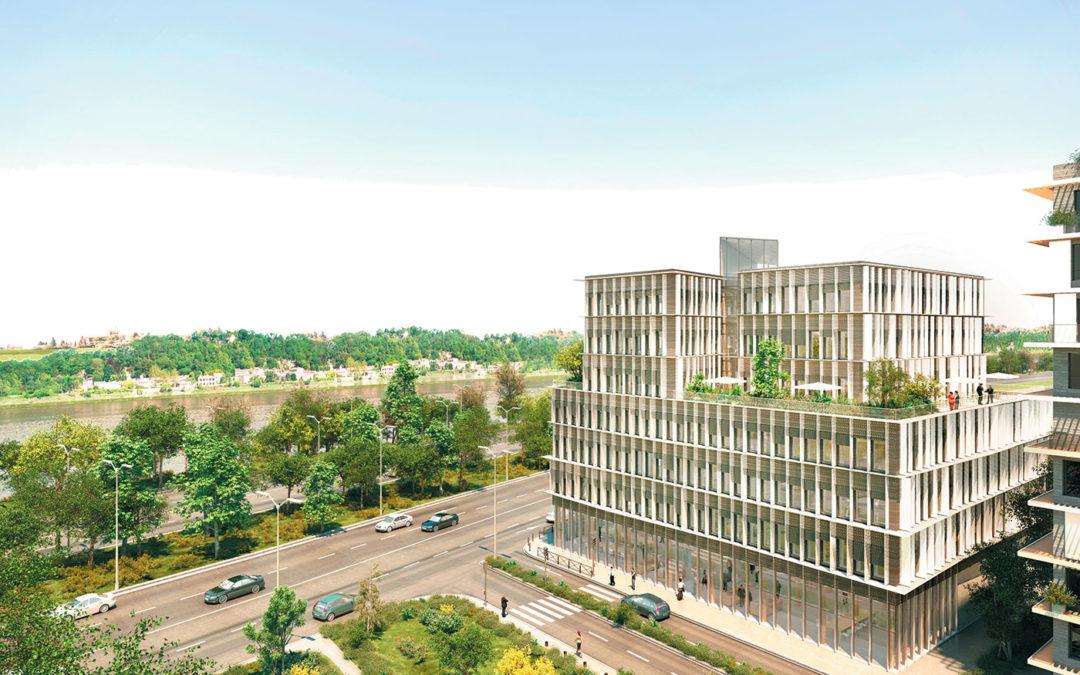 Un immeuble de bureaux en bois haut de 30 m à Bordeaux