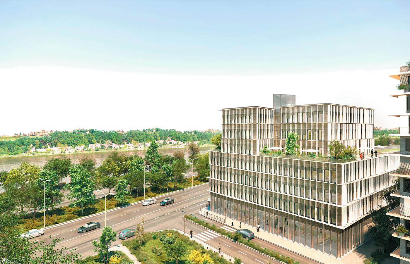 Un immeuble de bureaux en bois haut de 30 m bordeaux for Immeuble bureaux structure bois