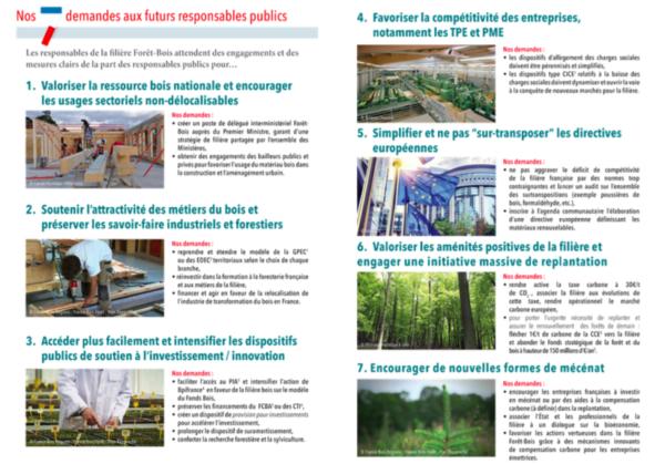 Les 7 propositions de la filière forêt-bois pour la présidentielle 2017