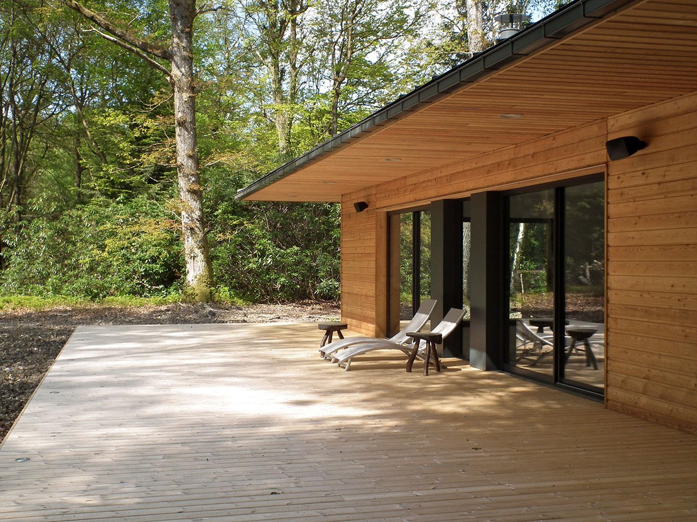 Maison en bois en corse great une ossature bois pour for Constructeur de maison en bois en corse du sud